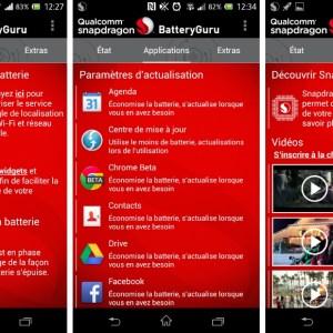 Snapdragon revoit l'interface de BatteryGuru 2.0.2, son application de gestion d'énergie