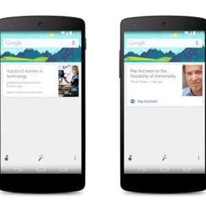 Google Search se met à jour avec de nouvelles cartes pour Google Now