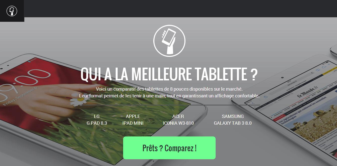Qui a la meilleure tablette : un comparatif visuel de quatre tablettes 8 pouces