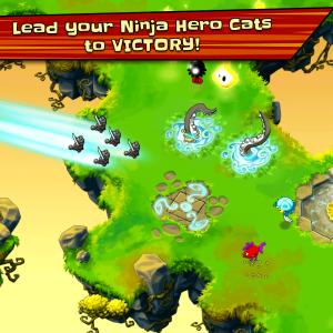Récupérez votre poisson dans Ninja Hero Cats !