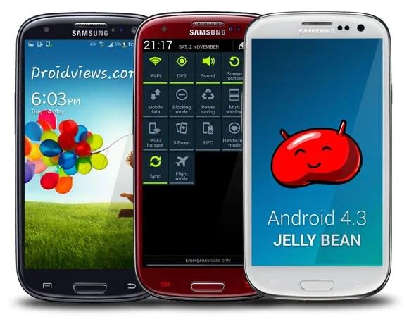 Galaxy S3 : la mise à jour officielle vers Android 4.3 est de retour !