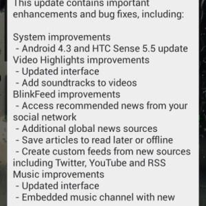 HTC One mini : la mise à jour d'Android 4.3 avec Sense 5.5 se déploie en Hongrie