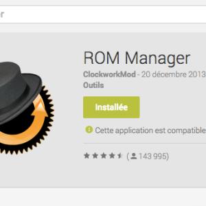 ROM Manager, l'outil de ClockworkMod fait son retour sur le Google Play !
