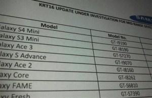 Android 4.4 «KRT16» serait à l'étude pour les Galaxy S4 Mini, S3 Mini, Ace 3 et Ace 2