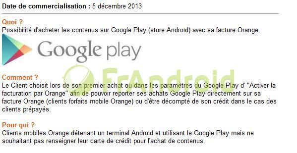 Orange : le paiement sur facture des applications Android est arrivé !