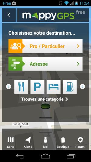 Mappy GPS Free : un GPS gratuit et complet sur smartphone