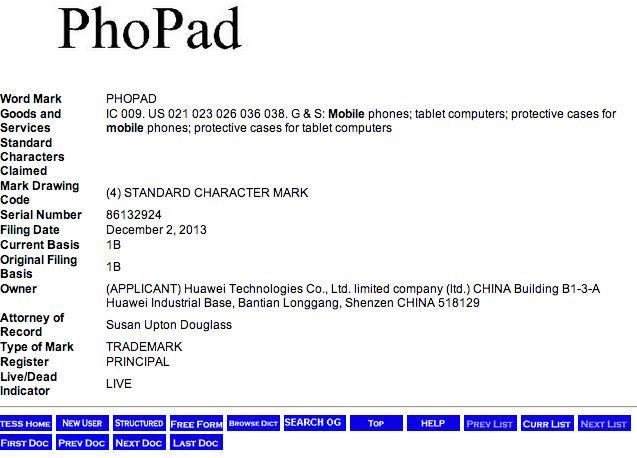 Le PhoPad de Huawei sera-t-il un cousin du PadFone ?