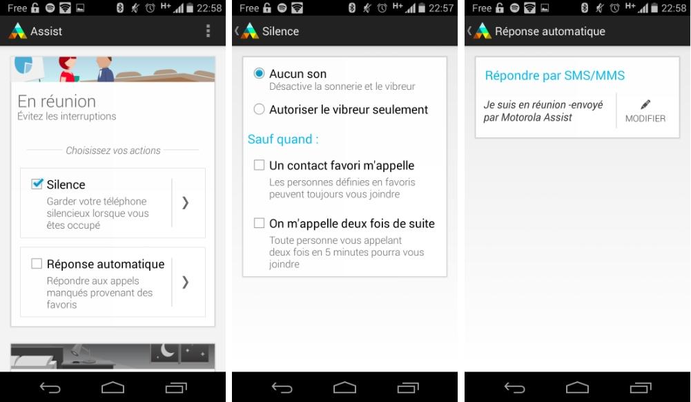 Motorola Assist 1.3 : répondez aux SMS entrants par la voix sur Moto G