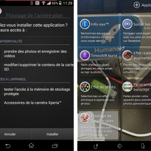 Background Defocus, l'application du Xperia Z1S disponible sous forme d'APK