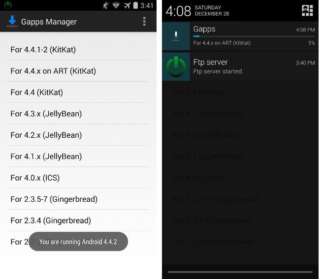 Gapps Manager : télécharger les bonnes Google Apps de votre ROM Custom sur toutes les versions
