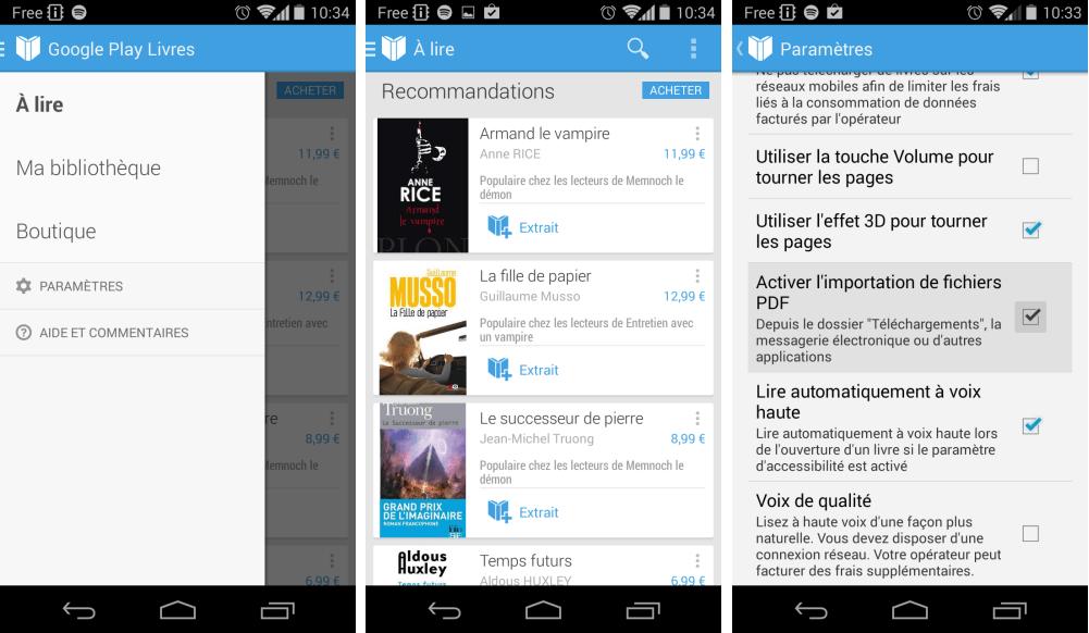 Play Books 3.1.31 réintègre la fonction de téléchargement de PDF