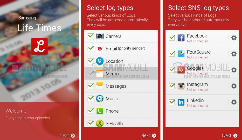 Samsung Life Times, une nouvelle application «personnelle» du Galaxy S5 ?