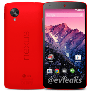 Une sortie du Nexus 5 rouge prévue demain ?