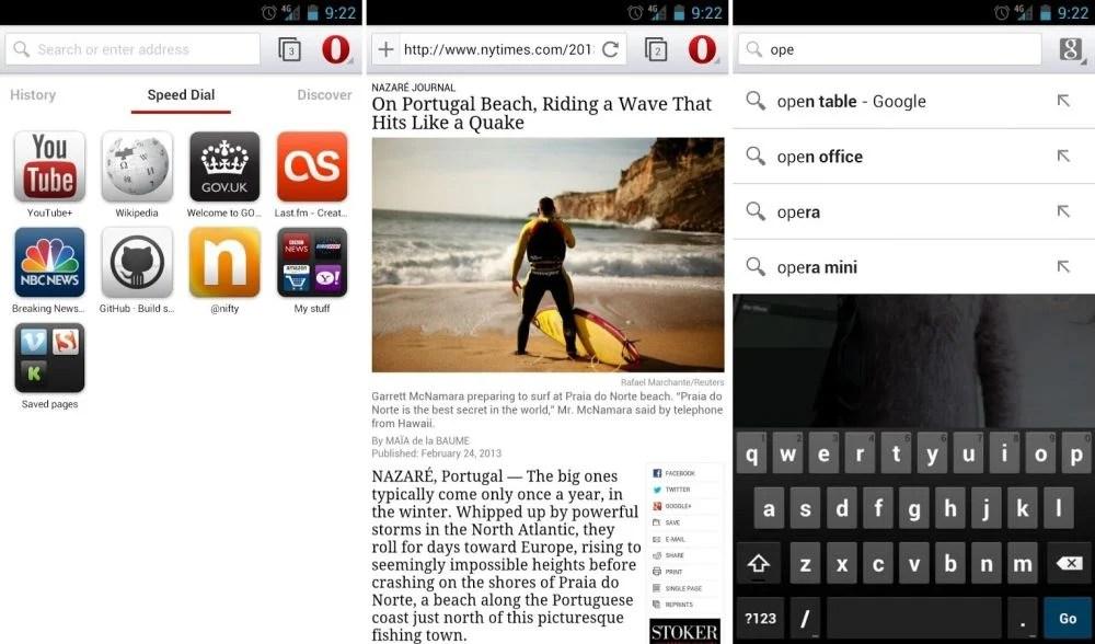 Opera bêta s'offre une mise à jour avec le support WebRTC sur Android