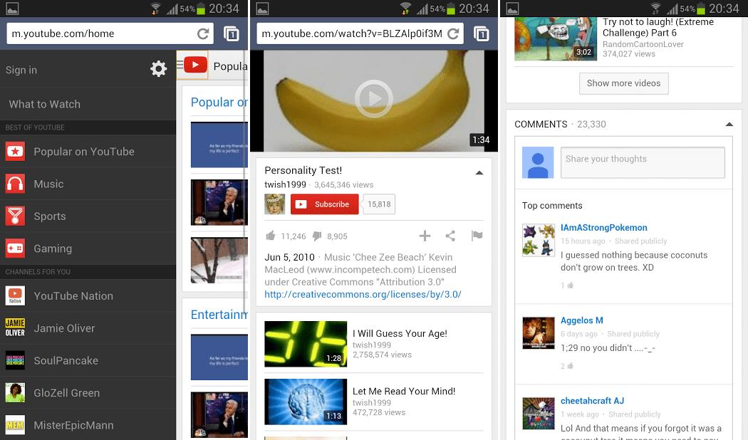 YouTube : la version web mobile fera bientôt peau neuve