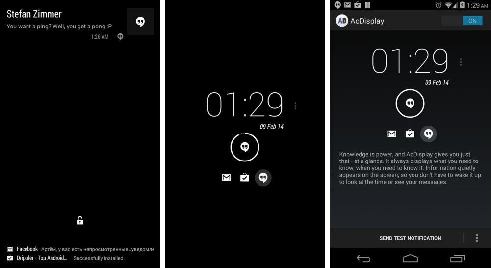 AcDisplay, une autre manière d'installer Active Notifications sur Android