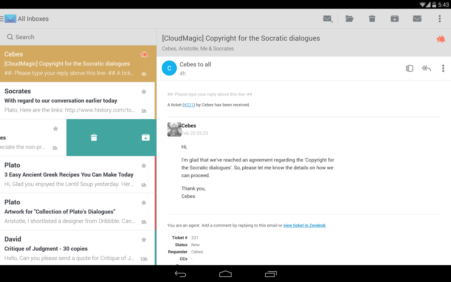 CloudMagic : une application e-mail alternative compatible avec plus de 10 services