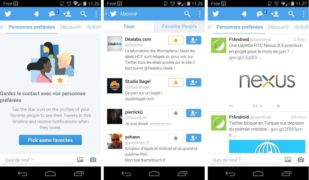 Twitter Beta accueille un onglet dédié à vos contacts favoris sur Android