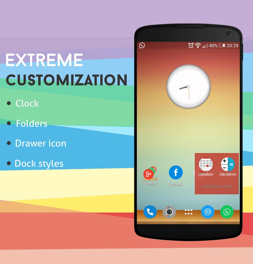 Inspire Launcher, un lanceur d'applications flat sur Android