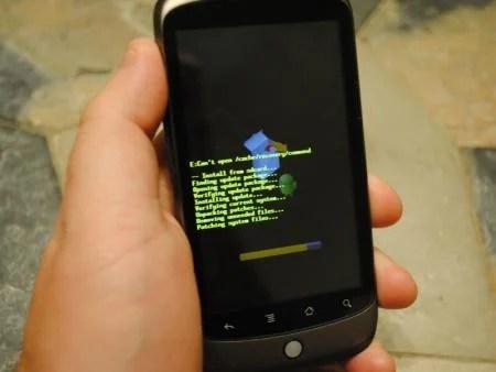 Mise à jour mineure pour le Nexus One sous Android 2.2 – FRF72