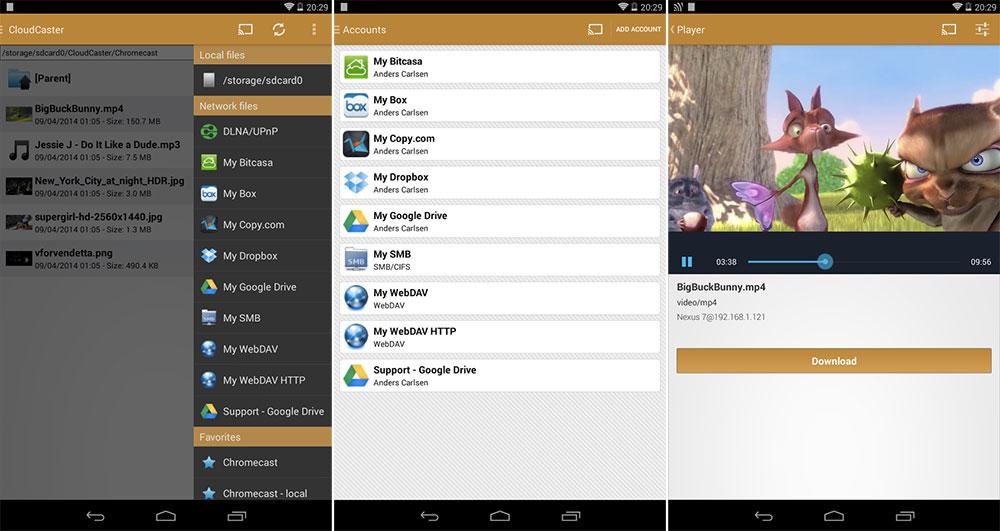 CloudCaster, la multiprise pour diffuser des contenus sur Chromecast
