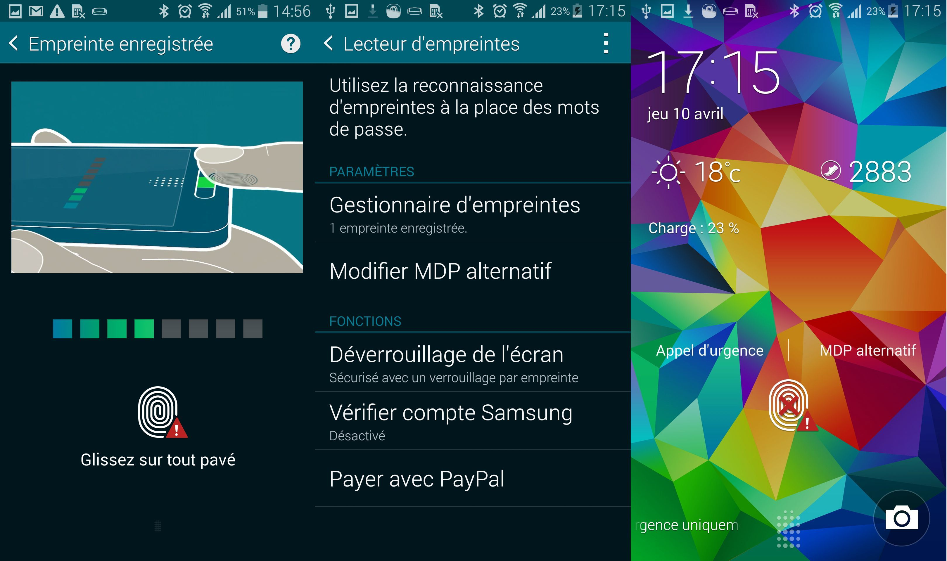 Galaxy S5 : le capteur d'empreintes digitales peut être contourné