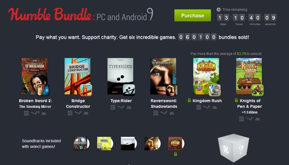 Humble Bundle PC et Android 9 : six jeux au prix de votre choix