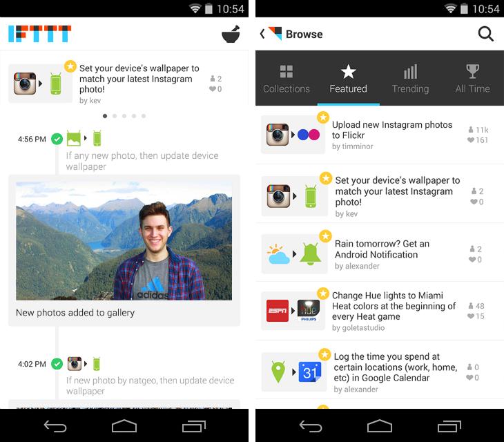 IFTTT est enfin disponible sur Android !