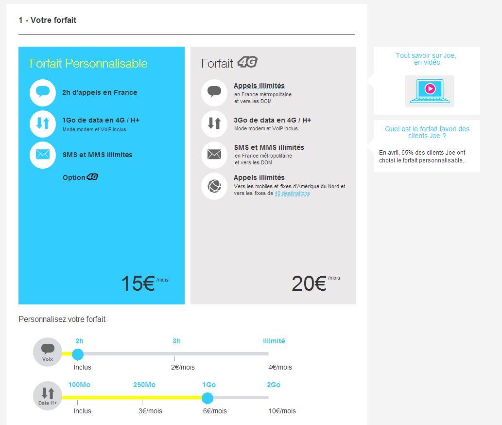 Joe Mobile ajoute la 4G à son forfait personnalisable