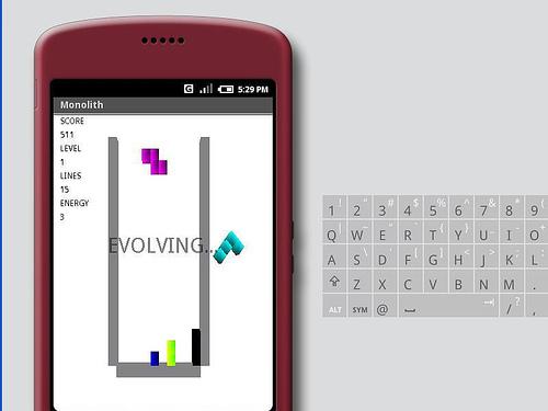 Le célèbre Tetris avec Monolith Android