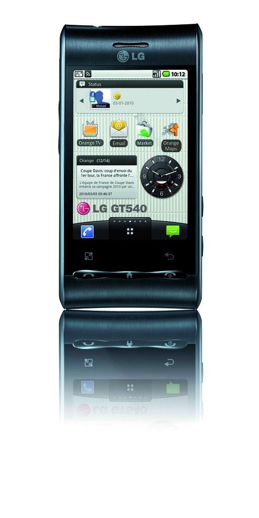 Plus de détails sur le LG GT540 sous Android