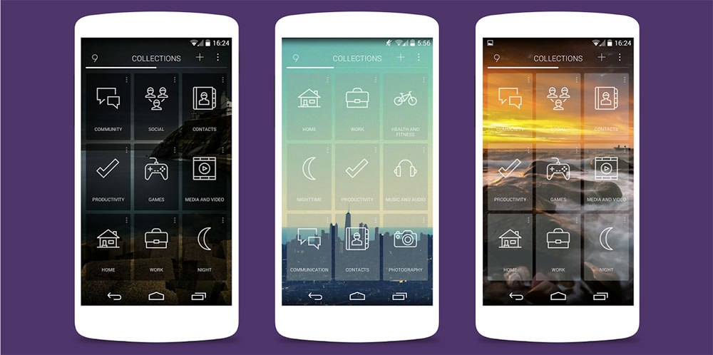9 Cards Home Launcher, le lanceur d'applications sous forme de cartes intelligentes