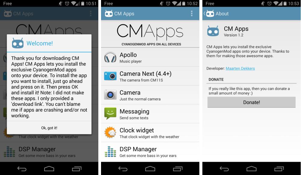 CM Apps : toutes les apps Cyanogen en une seule sur le Google Play