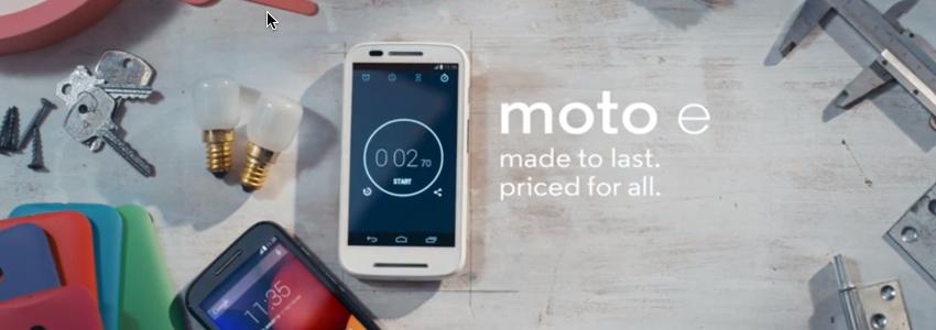 Motorola Moto E : l'accès au bootloader et au root sont disponibles