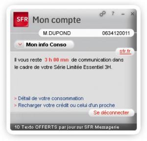SFR publie un widget pour consulter sa facture