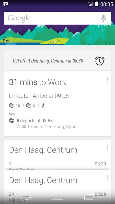 Google Now compte vous réveiller avant que vous ne ratiez votre arrêt de métro