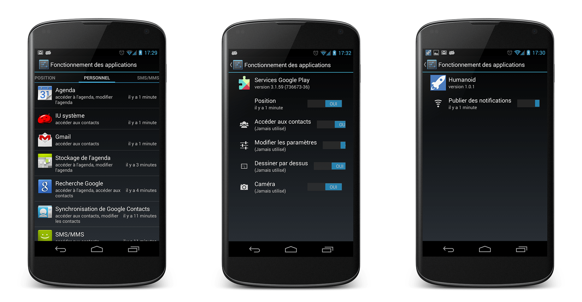 Aperçu des autorisations des applications sur Android