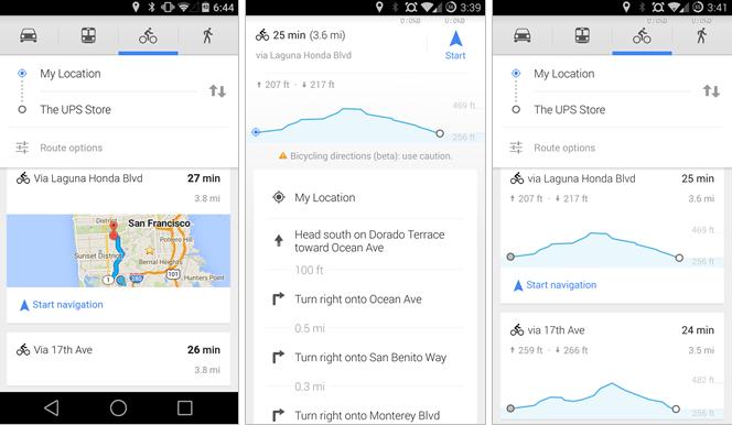 Google Maps adopte la commande vocale et vous montre les dénivelés (à vélo)