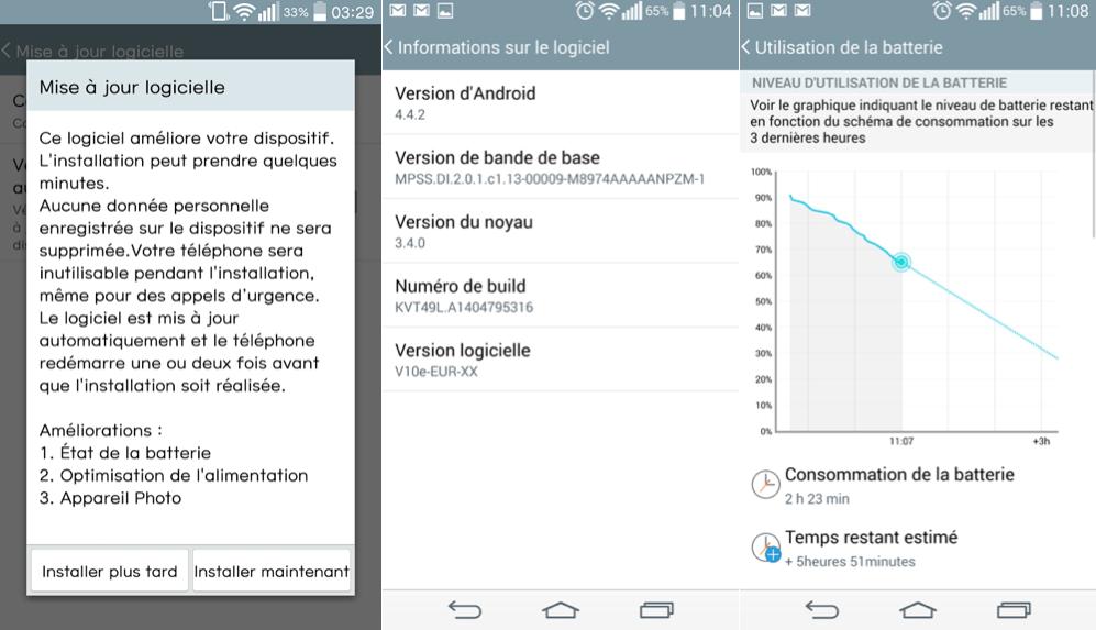 LG G3 : une première mise à jour et des améliorations théoriques