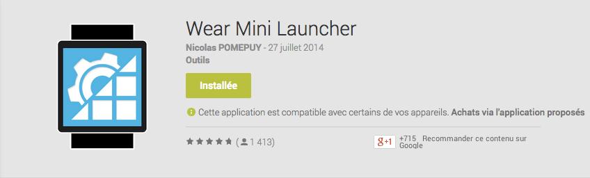 Wear Mini Launcher 2.0 débarque en bêta sur le Google Play