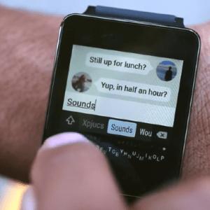 Minuum Keyboard arrive en bêta sur Android Wear… pour les plus agiles