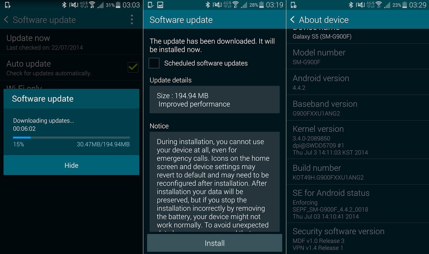 Samsung Galaxy S5 : nouvelle mise à jour pour augmenter ses performances
