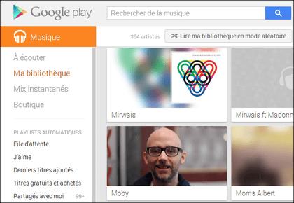 Comment utiliser Google Play Musique depuis un ordinateur (PC, Chromebook ou MAC) ?
