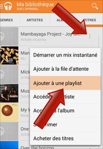 Comment créer une playlist sur Google Play Musique (Android) ?