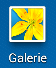 Aperçu de l'application Galerie sur Android