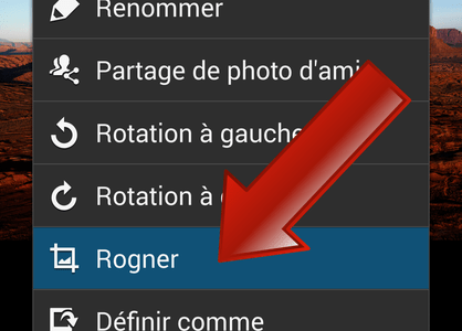 Comment rogner une photo sur Android ?