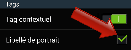 Comment libeller un portrait sur Android ?