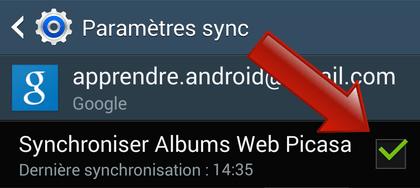 Comment synchroniser les albums Google+ (Picasa) sur Android ?