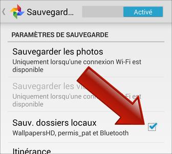 Comment sauvegarder des dossiers dans Google+ ?