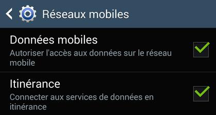 Comment fonctionne l'itinérance des données (roaming) sur Android ?